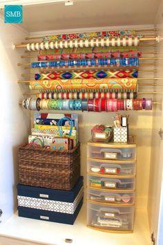 Craft Room Paper Storage 9