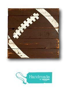 Football Sign / Vintage Wood Sports Sign / Boys Bedroom Decor / Vintage Football Decor from Pallets and Paint http://www.amazon.com/dp/B01B8JTLFG/ref=hnd_sw_r_pi_dp_YQBaxb1PFGAJ8 #handmadeatamazon