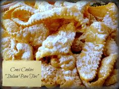 I can't even begin to explain how addicting Cenci Cookies are! When you think of deep frying, you normally use a batter. Well in this case, it's actually a dough which you roll out nice and thin, cut into strips, and deep fry! Dust them with confectioners' sugar and you have one of the most delicious treats you can think up! Now if you're going to be super authentic, there should be rum in the recipe, but I'm keeping it family friendly! Give it a go, and you will be seeing Double Rainbows…
