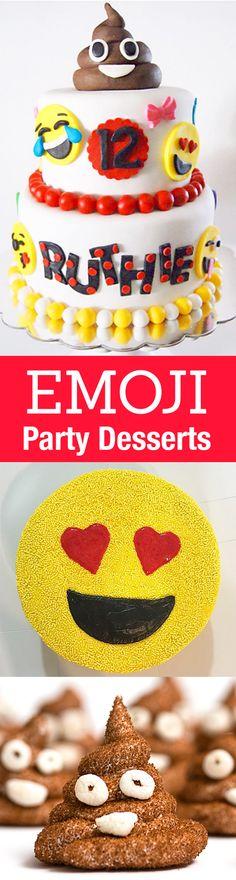 The Best Emoji Party Cakes & Desserts via @livinglocurto