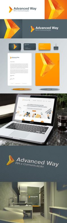 Identidade Visual, papelaria e site institucional  para empresa de RH e Comunicação Corporativa