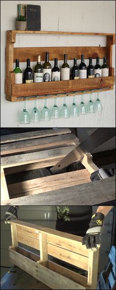 DIY Wine Rack From Recycled Pallet This storage idea is perfect for wine lovers who don't leave their wine unconsumed for too long. BUT you can definitely make use of this pallet wine rack in slightl