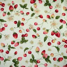 Cherries Strawberries Print, Quilting Cotton Fabric, Sevenberry, Made in Japan, Medium Weight, half yard, B19 by DartingDogFabric on Etsy