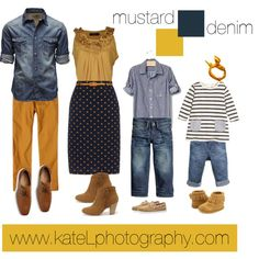Mustard + Denim // Family Outfit by katelphoto on Polyvore featuring Yumi, Report, Jack & Jones, prAna, SoHo Cobbler, Sperry and Minnetonka
