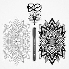 18 Ideas Tattoo Geometric Black Mandalas For 2019 Geometric Henna Tattoo, Dotwork Tattoo Mandala, Dog Tattoos, Animal Tattoos, Tattoos For Guys, Mandala Doodle, Mandala Art, Spiderman Tattoo, Tribal Shoulder Tattoos