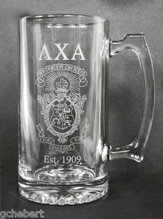 Your Fraternity Giant Sports Etched Crest & Letter Mug