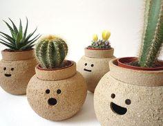 vasos de ceramica decorados com carinhas - Pesquisa Google