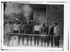 "Jack Johnson in training camp for his July 4th, 1912 fight with ""Fireman"" Jim Flynn in Las Vegas, New Mexico (?!)"