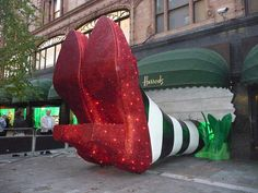 Ruby Slippers #PinAtoZ Harrod's in London