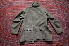 absolutely mint condition. size M Swiss WW2 Army Olive Wool Field Jacket. Extremely unique pocket design. #workwear #vintagefashion #etsyworkwearteam