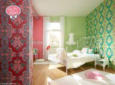 Wallpaper -http://www.erismann.de/tapeten-kollektionen/my-lilfe-is-sweet-by-jill/
