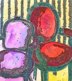 Illustration Friday, Stripes by DKM Art, via Flickr