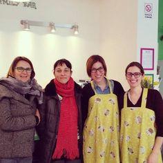 Eccoci in trasferta per conoscere Rosa e Paola del nuovo Family Bar di Milano...buona fortuna e buon lavoro! #artebimba incontra #moms