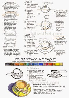 How to draw a teacup download : Liz Steel