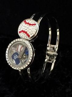 Kansas City Royals Inspired Memory Locket Snap Bracelet/Bangle Royals Bracelet