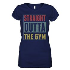T-Shirt STRAIGHT OUTTA GYM Yoga Running Exercise Athletic Ladies New Womens Top