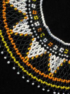 "Vintage Handmade Beaded Collar Necklace (13 1/4"" Long x 2 3/4"" Wide) | eBay"
