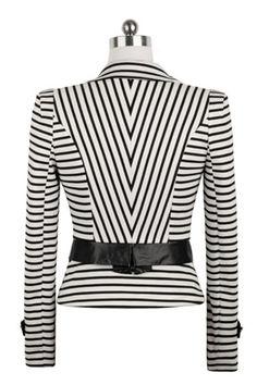 Elegant Striped Blazer OASAP.com