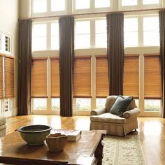 """Levolor 2"""" Premium Wood Blinds in Estate Red Oak. Custom create the perfect wood blinds for your home from our selection of slat styles, finishes and colors - all available at Blinds.com."""