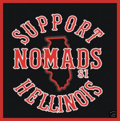 hells angels red and white support
