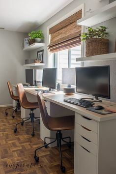 See how a cluttered, unused space turned into a basement home office reveal that I love! #basementremodel #homeoffice #ikeahack #diydesks Office Inspiration, Decor, Basement Remodeling, Room Makeover, Diy Home Decor, Home, Family Room Design, Home Decor, Basement Home Office