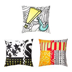 SPRIDD Cushion cover IKEA Embroidery adds texture and lustre to the cushion. The zipper makes the cover easy to remove.