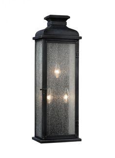 Feiss OL11102DWZ - Pediment 3 - Light Outdoor Sconce in Dark Weathered Zinc