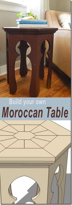 Moroccan Side Table Plans #build #table #plans  I want to make three or so for a coffee table