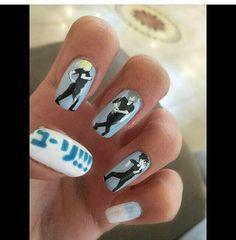 Yuuri!!! On Ice nails YOI nails