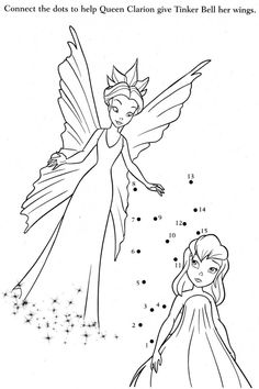Tinkerbell Give Something On Queen The Fairy Coloring