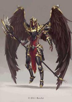 Horus, Ren Tu : Character Design that I done on Hope you like! Painted in Photoshop Fantasy Character Design, Character Concept, Character Art, Foto Fantasy, Fantasy Kunst, Egyptian Mythology, Egyptian Art, Armor Concept, Concept Art