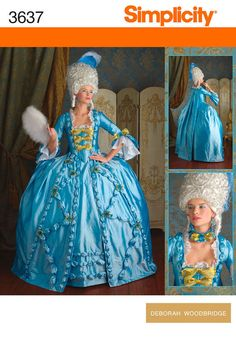 OOP Marie Antoinette style 18th century pattern by scalarags