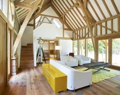 Our oak barns have been used for classic car storage, home offices, livestock, feed or garden machinery… Building Extension, Extension Ideas, Garage With Room Above, Oak Framed Extensions, Timber Garage, Oak Framed Buildings, Garden Room Extensions, Bungalow Renovation, Next At Home