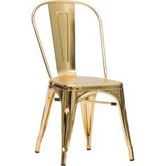 Elio Chair, Gold - Set of 2