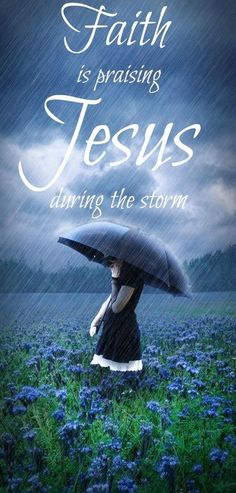 Sometimes the Lord calms the storm; sometimes he lets the storm rage and calms his child instead.  Storms never last so stay calm.  He's got this!