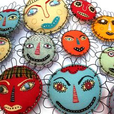 Mixed Media Flower Face Folk Art, Buttercup