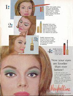maybelline eye makeup ad 1963
