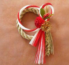 お正月 Baba Marta, Design Crafts, Diy Crafts, Japanese Flowers, New Years Decorations, Mother And Child, Craft Gifts, Grapevine Wreath, Craft Projects
