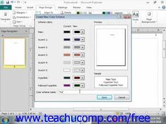 ▶ Publisher 2010 Tutorial Creating a Custom Color Scheme Microsoft Training Lesson 7.1 - YouTube