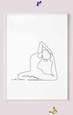 Yoga print, Printable abstract wall art, Yoga pose line drawing print, Black and white one line art Yoga print, Printable abstract wall art, Yoga pose line drawing print, Black and white one line art, Minimalist sketch<br> Yoga Art, Abstract Wall Art, Line Drawing, Line Art, Yoga Poses, Printable, Black And White, Drawings, Minimalist