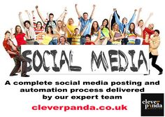 A complete social media posting and automation process delivered by our expert team. http://cleverpanda.co.uk/social-media-services/ #socialmedia  #marketingconsultantLondon #facebookadvertising  #displayadvertising #emailmarketing #localsearchoptimization #reputationmanagement #retargeting #socialmediamarketing #webdesign
