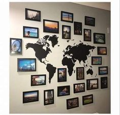 travel gallery wall ideas - travel gallery wall , travel gallery wall ideas , travel gallery wall with map , travel gallery wall decor , travel gallery wall ideas with map Ballon Illustration, Family Pictures On Wall, Hang Pictures, Collage Pictures, Bedroom Pictures, Family Photos, Casa Rock, Travel Room Decor, Travel Collage