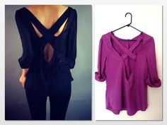 DIY Tutorial: DIY Clothes DIY Refashion / DIY Cross Back Shirt Refashion - Bead&Cord
