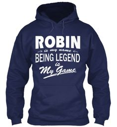 Robin Name, Legend Game Navy Sweatshirt Front