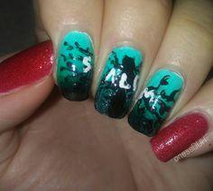 Salem inspired nail art