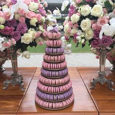 Wedding Cake Designs, Wedding Cakes, Macaroon Tower, Baking Business, Food Platters, Bridge, Cookies, Table Decorations, French Pastries