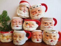 vintage santa mug - Google Search