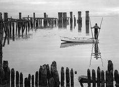 1948: Oyster Tonger (A. Aubrey Bodine/Baltimore Sun) #watermen #shellfish #oysters
