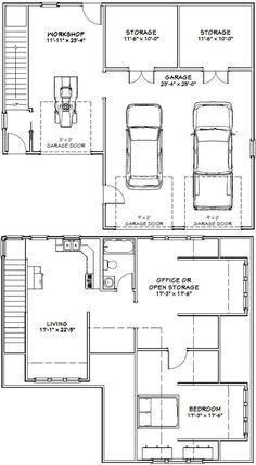 40x36 2 Car Garage 40x36g10c 110 Sq Ft Excellent Floor Plans