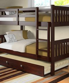 Look what I found on #zulily! Dark Cappuccino Mission Trundle Twin Bunk Bed by Donco Kids #zulilyfinds